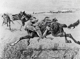 A Peril of the Plains, by Frederic Remington, 1890