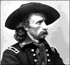 The heroic leader George Armstrong Custer