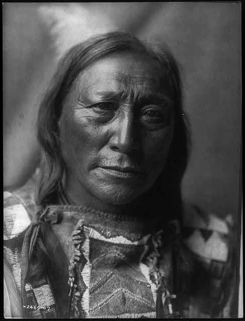 Hollow Horn Bear by Edward Curtis, 1907
