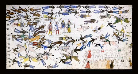 The Battle of the Little Big Horn by Kicking Bear, Lakota 1898