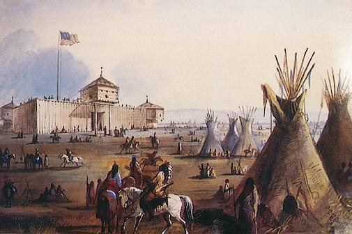Fort Laramie by Alfred Jacob Miller,1837