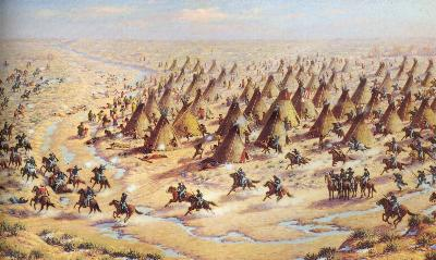 The Sand Creek Massacre by Robert Lindneux,1936