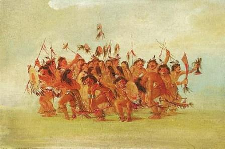 Scalpdance, by George Catlin 1834